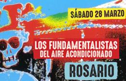 La Banda del INDIO SOLARI se presenta en el anfiteatro de Rosario. Recital de Los fundamentalistas del aire Acondicionado en Rosario